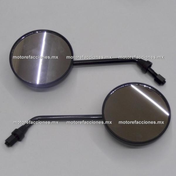Espejos Negros Grandes Redondos - (10mm) - Yamaha BWS