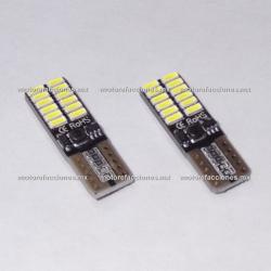 Foco Pellizco Blanco Hiper-LED 24 Micro LED's 12v - (2 Pzas)