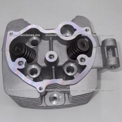 Cabeza de Cilindro Completa FT150 / FT150 GT - Motocarro Dazon 200 - Custom Chinas 150cc (gris) - 1 Salida para Escape
