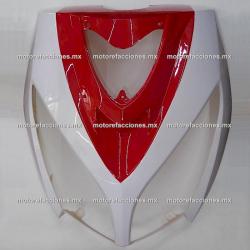 Cubierta de Faro Motoneta Italika DS150 - Vento Phantom R5 - Carabela VX150 - Dream Siluete (Blanco con Rojo)
