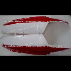 Cubiertas Traseras Italika DS125 / DS150 / XS150 - Phantom R4, R5 - Adventure - VX150 (Blanco c/ Rojo)