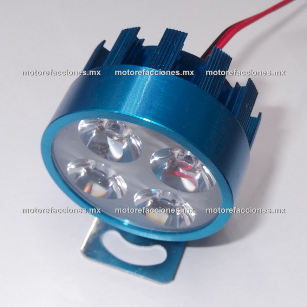 Faro Auxiliar Hiper-LED (4 LEDs c/u) - Azul - Economico