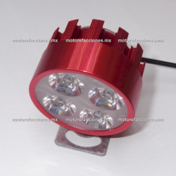 Faro Auxiliar Hiper-LED (4 LEDs c/u) - Negro - Economico
