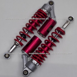 Amortiguadores Gas p/ Motocicletas (1 Cilindro) - Naranja c/ Negro (Par)