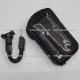 """Soporte Celular / GPS contra Agua c/ Vicera y Cargador USB para Moto - 7"""" - (para espejo de moto)"""