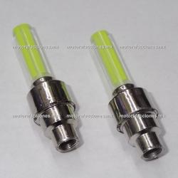 Jgo. de Tapones para Valvula LED (Amarillo)
