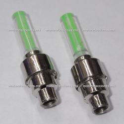 Jgo. de Tapones para Valvula LED (Verde)