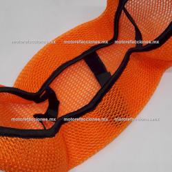 Malla Asiento - Italika FT125 / FT150 / FT150 GT - Yamaha FZ16 / FZs - Bajaj Pulsar 200 NX - Honda Cargo (naranja)