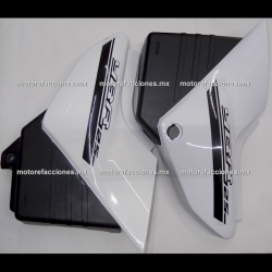 Cubiertas Laterales - Yamaha YB / YBR 125 (blanco c/ negro) - (par)