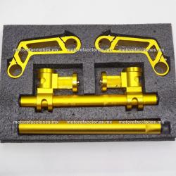 Manubrio Deportivo Transformer Motocicleta (amarillo / dorado) - Multiposiciones