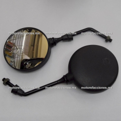 Espejos Negros Redondos - Bajaj Boxer 150 / BM150 - (10mm)