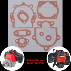 Juntas de Motor Pocket 49cc (Patin de Gasolina y Desbrozadora)