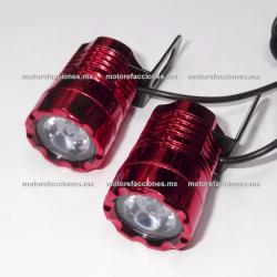 Jgo. Foco Ojo de Aguila (rojo) Hiper-LED - 12v