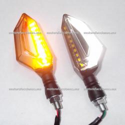 Direccionales LED Media Flecha c/ Cuarto (Ambar c/ Cuarto o Stop Blanco)