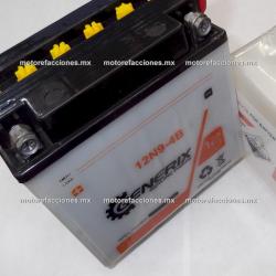 Bateria 12N9-4B (12v-9Ah) - - - Italika 150Z - Dinamo Renegada / Rocky - Rebelian 250 / V-Thunder 250 / Bajaj Avenger 200