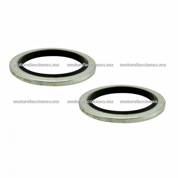 Jgo de Rondanas (Sellos) Hidraulicos para Sistemas de Freno de Disco - Manguera / Caliper / Bomba