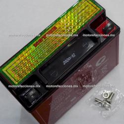 Bateria 12N7A-3A Gel (12V-7Ah) - - - Italika EX200 / RT200 / FT180 / FT200 / FT250 / RT180 / DM200 - Dinamo Sport