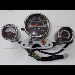 Tablero Custom - 3 Unidades - Tacometro Electronico (derecho) e Indicador de Temperatura (izquierdo)