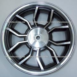 """Rin Trasero Italika DS150 / GS150 / GTS175 - Vento Phantom 9i - (13"""" de 5 Brazos) - Negro c/ Plata"""