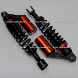Amortiguadores de Gas p/ Motonetas (1 Cilindro) - Negro (Par)