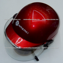 Casco Cachucha D001 c/ Careta Abatible (rojo)