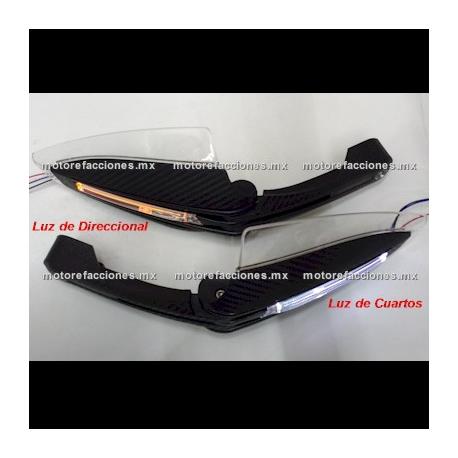 Cubre Puños c/ Luz LED Cuartos y Direccionales (Protectores de Puños) - Universales