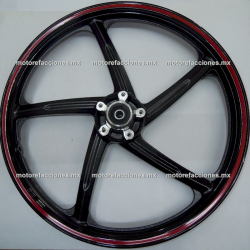 Rin Delantero Italika 125Z - (Negro Mate)