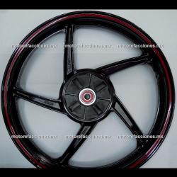 Rin Trasero Italika 125Z - (Negro Mate)