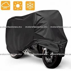 Funda Motocicleta Grande (negro c/ costuras de color)