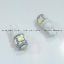 Foco Pellizco Blanco Hiper-LED 12v de 5 unidades - (Blister 2 pzas)