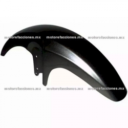 Salpicadera Delantera Completa Motocicleta Italika FT125 (negro brillante)