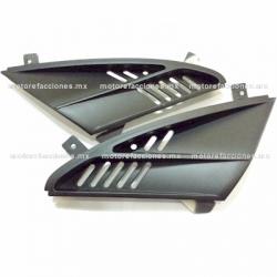 Tomas de Aire de Tapa de Faro Italika DS150 - Vento Phantom R5 - Carabela VX150 - Dream Siluete (Negro)