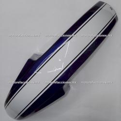Salpicadera Delantera Italika FT125 TS (azul c/ franja blanca)