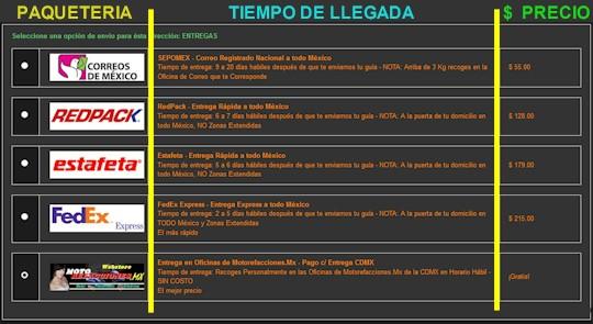 Proceso de Compra en Motorefacciones.mx